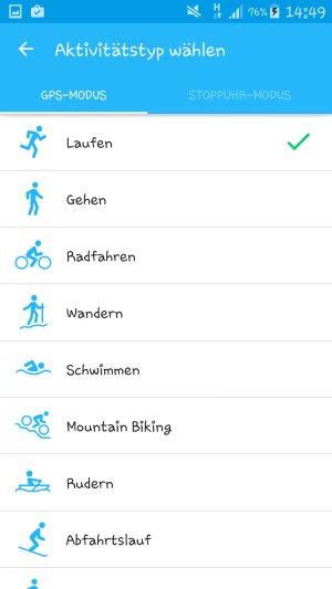 Runkeeper_Aktivitäten
