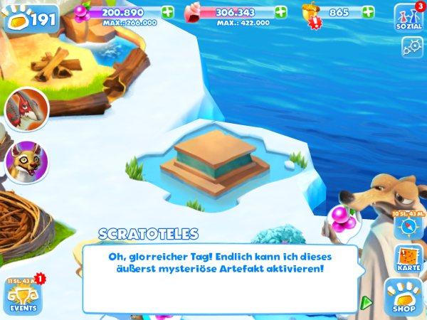 Ice Age Adventures Scratoteles Artefakt Check App