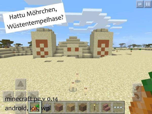 Minecraft_PE_013_Wuestentempel_Hase