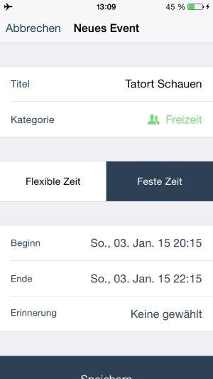 Thinkforme_App_fester_termin