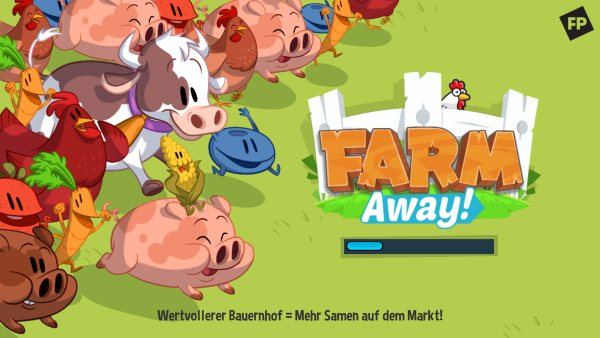 Farm Away! untaetiger Bauer Ladescreen