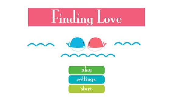 finding love app main screen