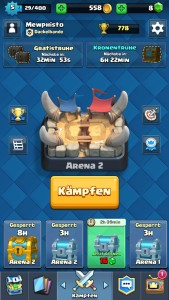 Clash Royale Hauptmenue