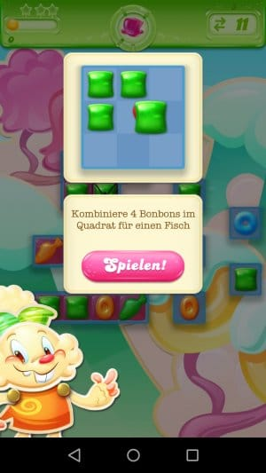 Candy Crush Jelly Saga Fisch