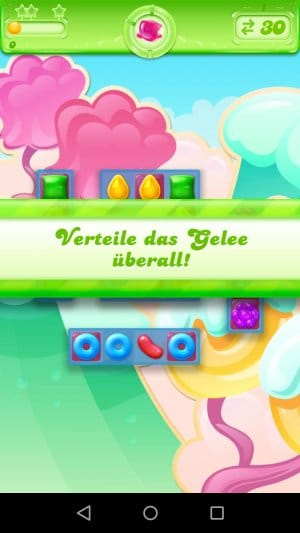 Candy Crush Jelly Saga Gelee verteilen