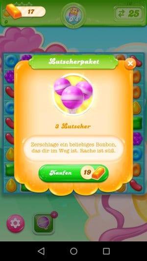 Candy Crush Jelly Saga Lutscher