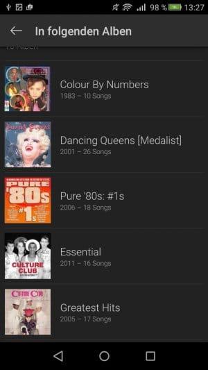 SoundHound alle Alben