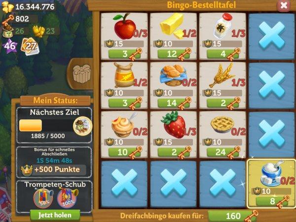 farmville2 bingo bestelltafel