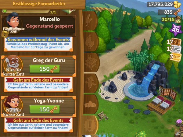 FarmVille 2 Wellnesstag Event