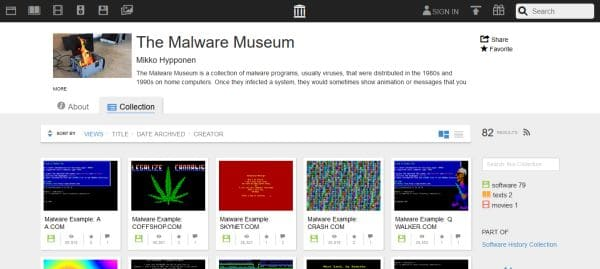 The_Malware_Museum_Screenshot