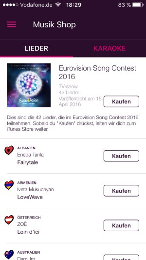 eurovision song contest 2016 musik shop