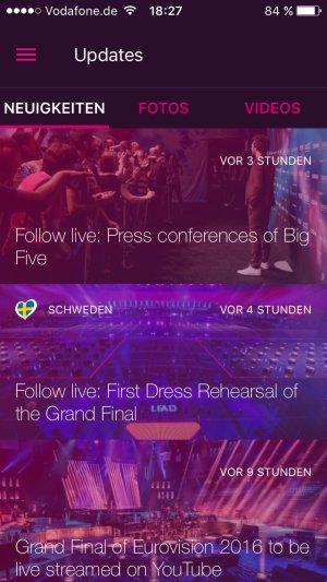 eurovision song contest 2016 neuigkeiten