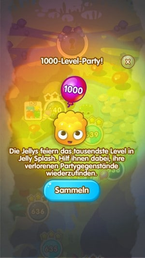 jelly splash 1000 level party