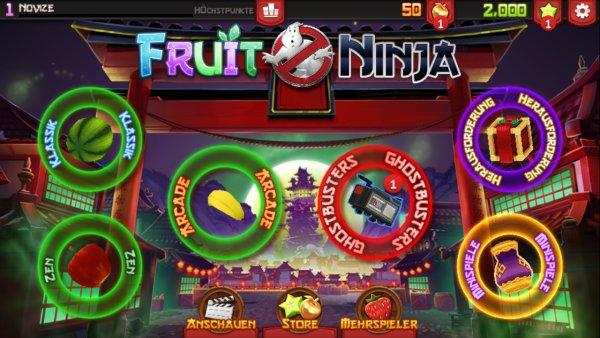 Fruit_Ninja_Ghost_Busters_Startbildschirm