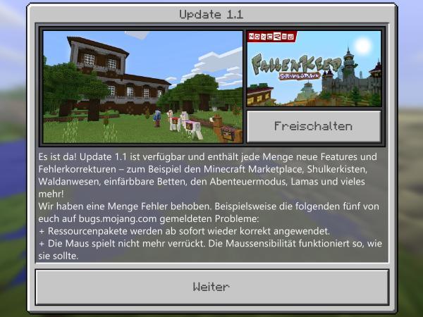 Minecraft Pe 11 Das Abenteuerupdate Check App