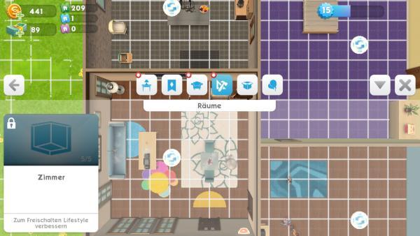 Was Bedeudet Der Titel Oben In Der Mitte Bei Sims Mobile? Erste Möbel,  Trautes Heim? Oben In Der Mitte Ist Unter Einem Edelstein Ein Titel Zu  Sehen.