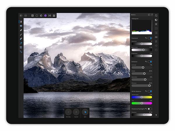 Im RAW Modus einfach und schnell Bildbearbeitungen an der Originaldatei vornehmen. (Grafik: affinity.serif.com)
