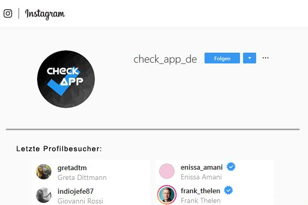 Profilbesucher Instagram
